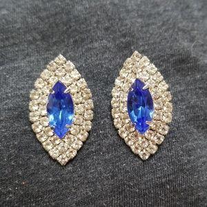 Sparkly elegant blue earrings